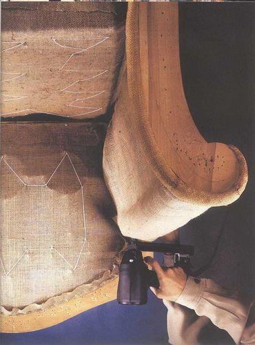Техника обивки и отделки мебели