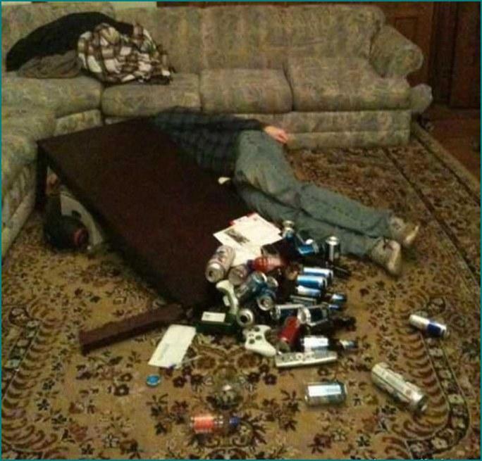 Приколы над опьяненными - пить вредно